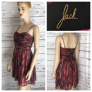 JACK colorful chiffon short dress